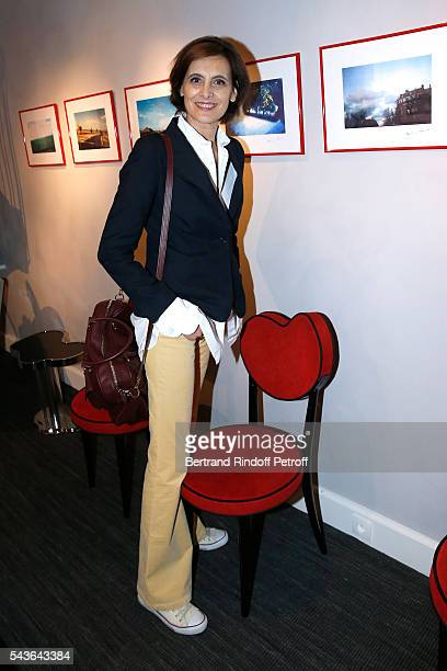 Ines de la Fressange attends the Private View of 'Francoise Sagan Photographer' Photo Exhibition at Galerie Pierre Passebon on June 29 2016 in Paris...