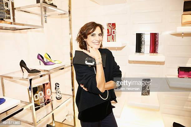 Ines de la Fressange attends the Roger Vivier Autumn Winter 2015/2016 Collection Celebration on October 6 2015 in Paris France