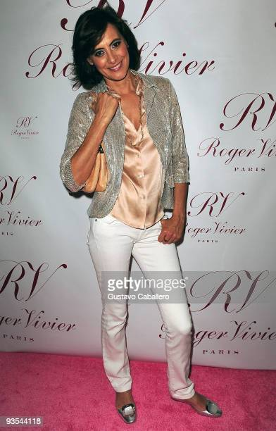 Ines De La Fressange attends the Roger Vivier Boutique Opening Party at Bal Harbour Shops on December 1 2009 in Miami Florida
