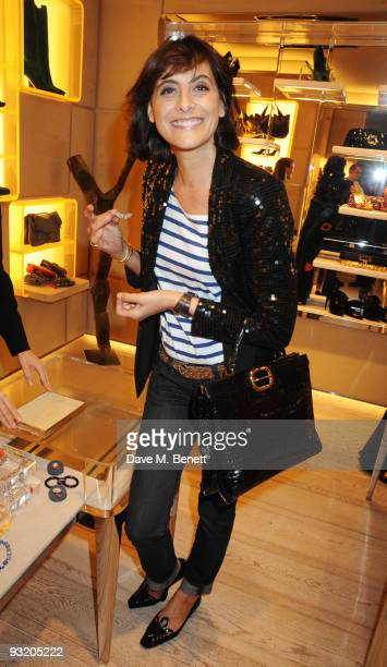 Ines de la Fressange attends the Roger Vivier Christie's Jewellery London party on November 18 2009 in London England