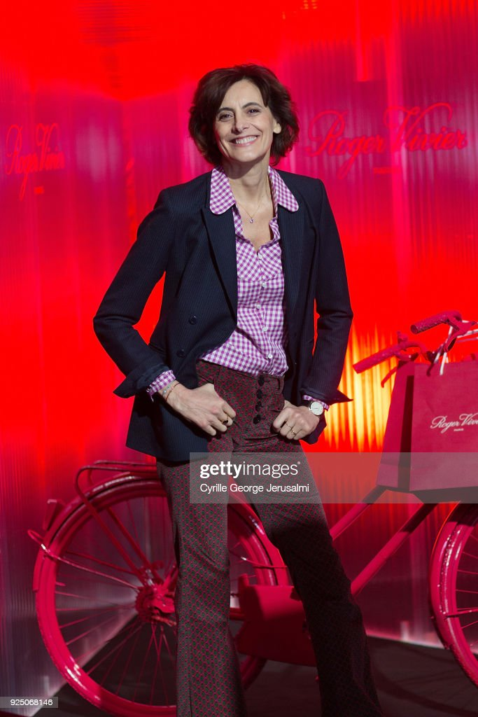 Ines De La Fressange attends the Roger Vivier Fall/Winter 2018 Press Presentation at Espace Cambon Capucines during Paris Fashion week on February 27, 2018 in Paris, France.