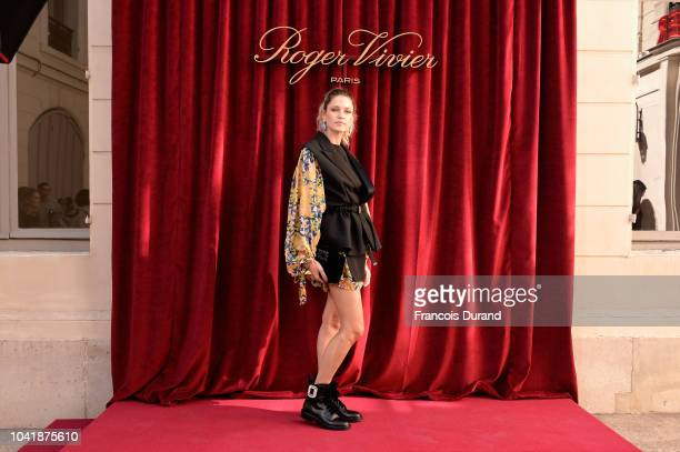 Ines de la Fressange attends the Roger Vivier Presentation Spring/Summer 2019 during Paris Fashion Week on September 27 2018 in Paris France