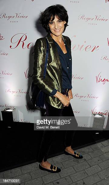 Ines de la Fressange attends the Roger Vivier Virgule London launch party hosted by Atlanta de Cadenet Ines de la Fressange and Bruno Frisoni...