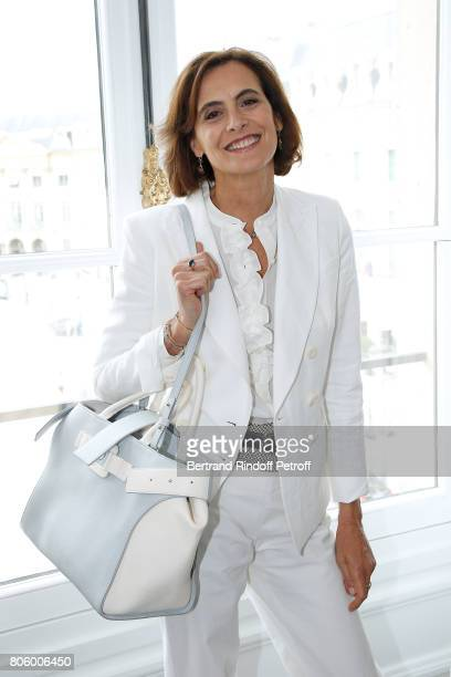 Ines de la Fressange attends the Schiaparelli Haute Couture Fall/Winter 20172018 show as part of Haute Couture Paris Fashion Week on July 3 2017 in...