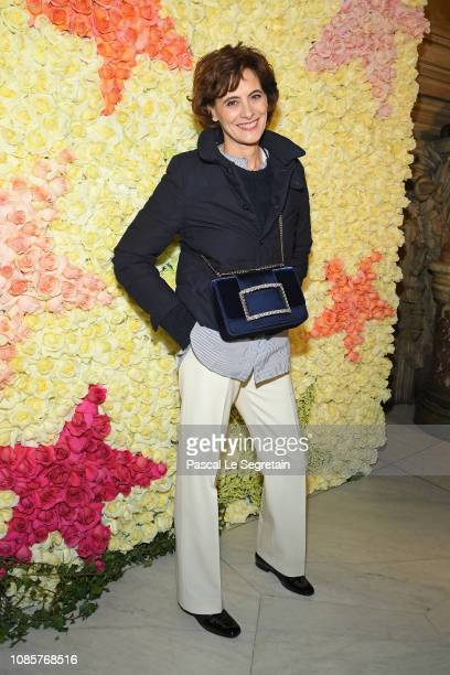 Ines de la Fressange attends the Schiaparelli Haute Couture Spring Summer 2019 show as part of Paris Fashion Week on January 21 2019 in Paris France