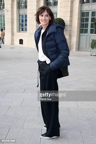 Ines De La Fressange attends the Schiaparelli Haute Couture Spring Summer 2017 show as part of Paris Fashion Week on January 23 2017 in Paris France