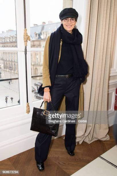 Ines De La Fressange attends the Schiaparelli Haute Couture Spring Summer 2018 show as part of Paris Fashion Week January 22 2018 in Paris France