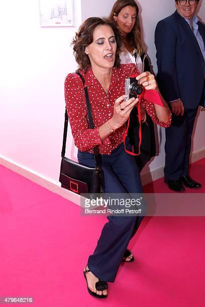 Ines de la Fressange attends the Schiaparelli show as part of Paris Fashion Week Haute Couture Fall/Winter 2015/2016 on July 6 2015 in Paris France