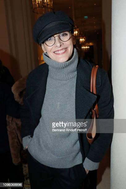 Ines de la Fressange attends the Weill Menswear Fall/Winter 20192020 show as part of Paris Fashion Week on January 18 2019 in Paris France