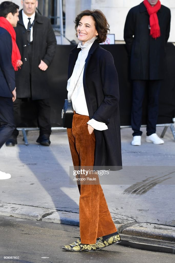 Celebrity Sightings -Paris Fashion Week -Haute Couture Spring/Summer 2018 : Day Two : News Photo