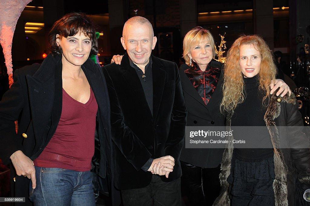 Ines De La Fressange, Jean Paul Gaultier, Marie Christiane Marek and Florence Darel attend 'Les Sapins de Noel des Createurs' in Paris.