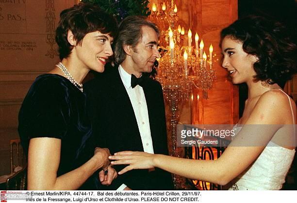 Ines de la Fressange, Luigi d'Urso and Clothilde d'Urso