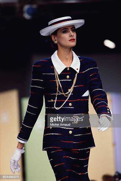 Ines de la Fressange Modeling Chanel Spring Fashions
