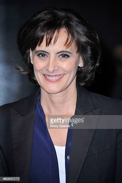 Ines de la Fressange poses during 'Grevin Fashion' Waxwork Unveiling at Musee Grevin on December 15 2014 in Paris France