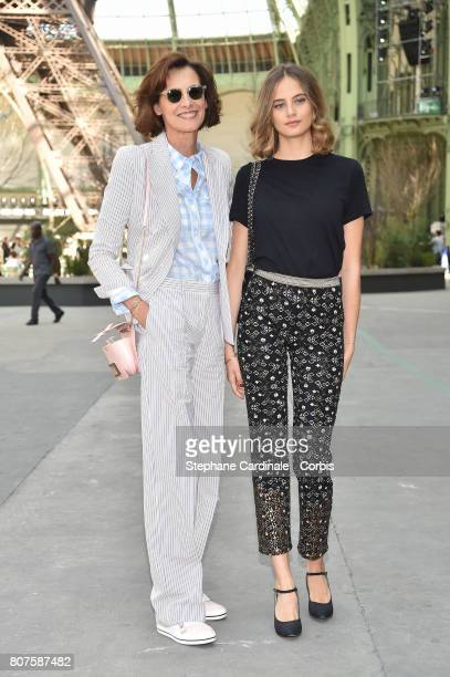 Ines De La Fressange with her daughter Violette Marie d'Urso attend the Chanel Haute Couture Fall/Winter 20172018 show as part of Haute Couture Paris...