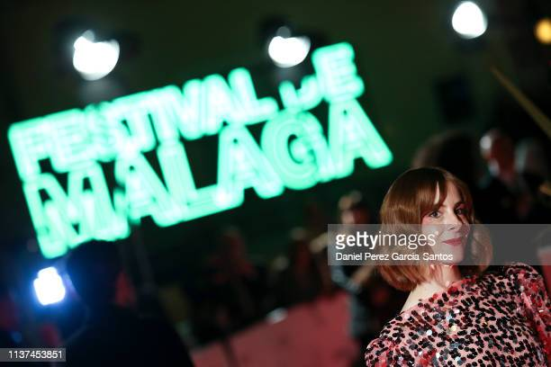 Ines de Leon attends '¿Que Te Juegas?' premiere at the Cervantes Theater during the 22nd Malaga Film Festival on March 21, 2019 in Malaga, Spain.