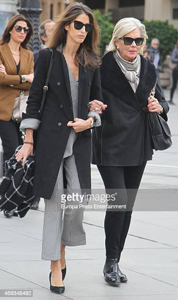 Ines Domecq attends the funeral chapel for Duchess of Alba Cayetana Fitz James Stuart on November 20 2014 in Seville Spain Maria del Rosario Cayetana...