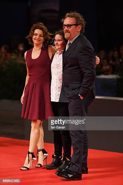 Ines Glorian Ada Meaney and actor Colm Meaney attend the premiere of 'The Journey' during the 73rd Venice Film Festival at Sala Grande on September 7...