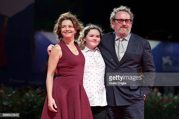 Ines Glorian Ada Meaney and Colm Meaney attend the premiere of 'The Journey' during the 73rd Venice Film Festival at Sala Grande on September 7 2016...