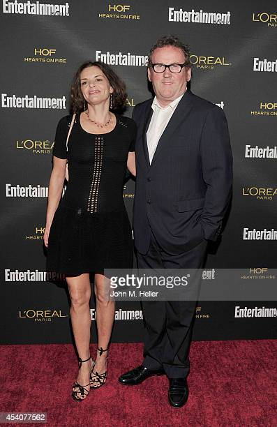 Ines Glorian and actor Colm Meaney attend Entertainment Weekly's PreEmmy Party at Fig Olive on Melrose Place on August 23 2014 in West Hollywood...