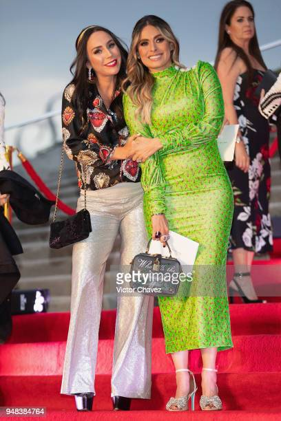 Ines Gomez Mont and Galilea Montijo attend the Dolce Gabbana Alta Moda and Alta Sartoria collections fashion show at Soumaya Museum on April 18 2018...