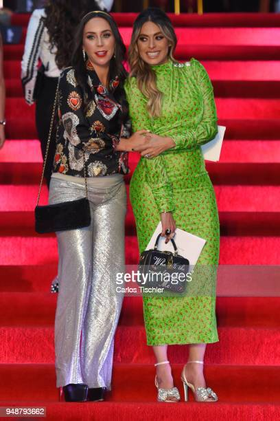 Ines Gomez Mont and Galilea Montijo pose prior the Dolce Gabbana Alta Moda and Alta Sartoria collections fashion show at Soumaya Museum on April 18...