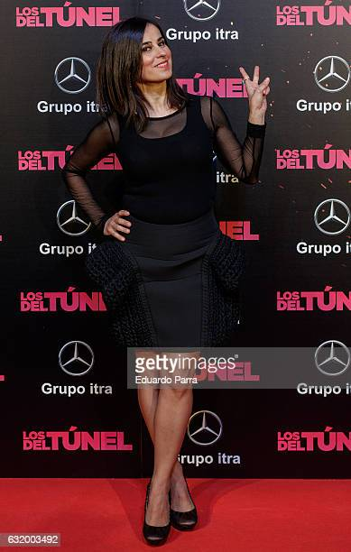 Ines La Maga attends 'Los del Tunel' premiere at Capitol cinema on January 18 2017 in Madrid Spain