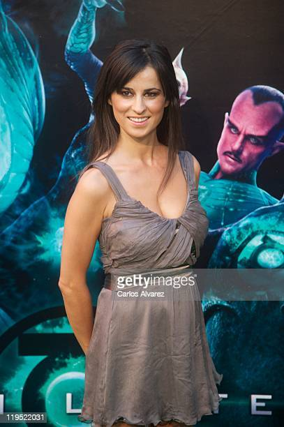 Ines La Maga attends the Green Lantern premiere at the Capitol cinema on July 21 2011 in Madrid Spain