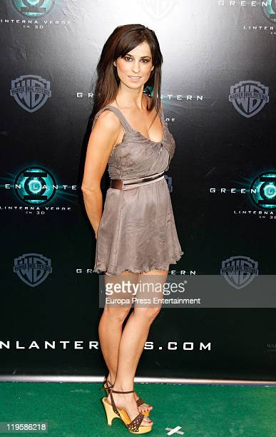 Ines La Maga attends the premiere of 'Green Lantern' at Callao Cinema on July 21 2011 in Madrid Spain