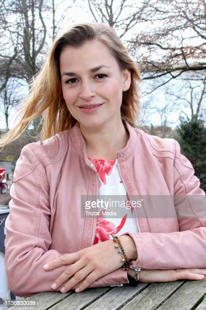 Ines Lutz attends the photo call of the tv series Watzmann ermittelt at Literaturhaus on March 19 2019 in Hamburg Germany