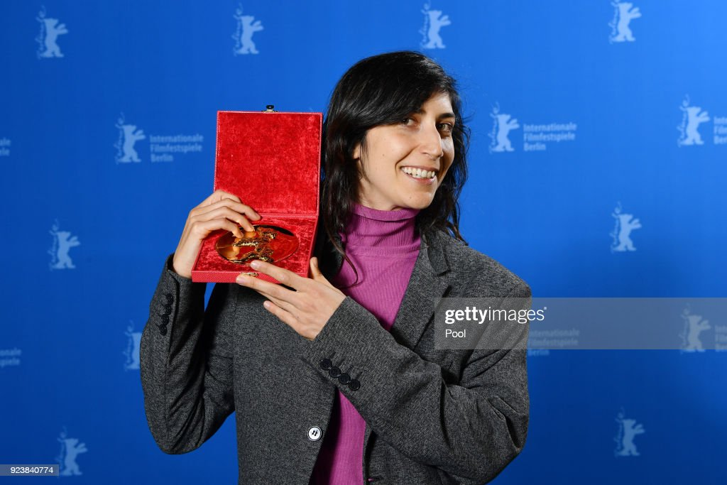 Ines Moldavsky, winner of the Golden Bear for Best Short Film for the movie 'The Men Behind the Wall' poses at the Award Winners photo call during the 68th Berlinale International Film Festival Berlin at Berlinale Palast on February 24, 2018 in Berlin, Germany.