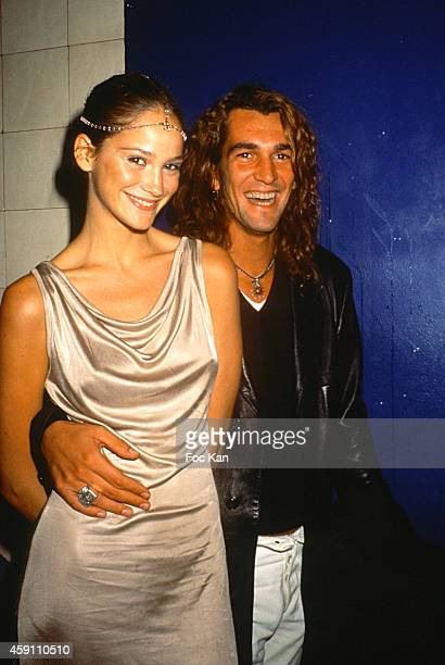 Ines Rivero and Ale de basseville attend a fashion week Party at Les Bains Douches in the 1990s in Paris France
