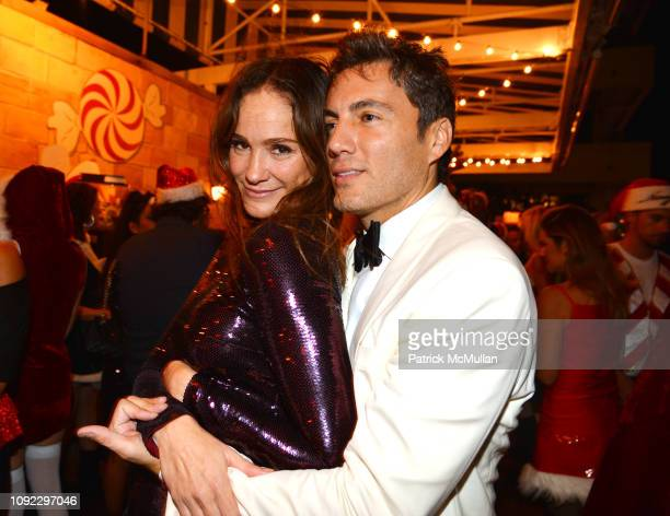 Ines Rivero and Fabian Basabe attend Bad Santa Party Hosted By Christina Getty Juan Pablo Cappello at Soho House Miami on December 1 2018 in Miami...