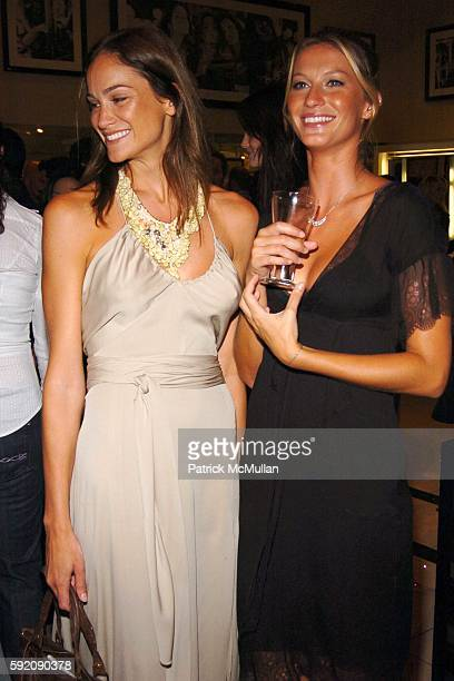 Ines Rivero and Gisele Bundchen attend Gisele Bundchen Hosts PreFashion Week Party to Celebrate The Victoria's Secret Fashion Show Exhibit Ten Years...