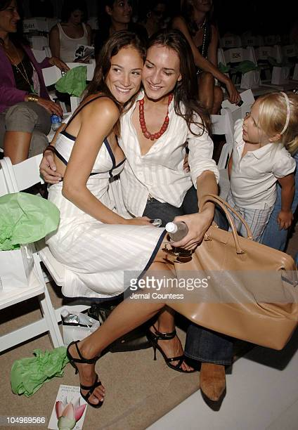 Ines Rivero and Zani Gugelmann during Olympus Fashion Week Spring 2006 Douglas Hannant Front Row at The Plaza in New York City New York United States