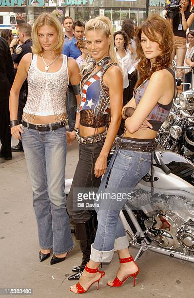 Ines Rivero Bridget Hall and Heidi Klum during Victoria's Secret Supermodels Launch New Rock Angel Collection at Victoria Secret Store on Thirty...
