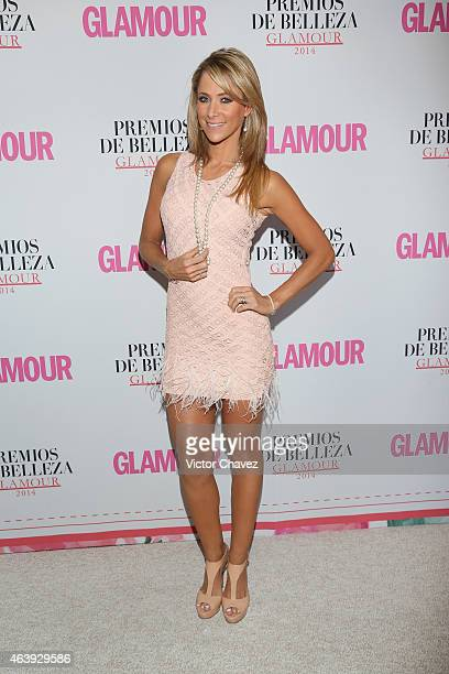 Ines Sainz attends premios de belleza Glamour 2014 at salon Mayita on February 19 2015 in Mexico City Mexico