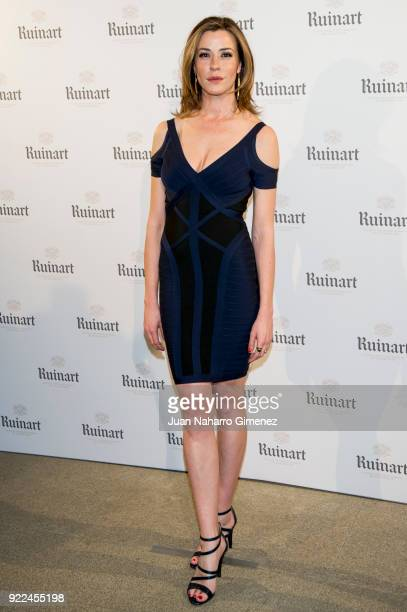 Ines Sainz attends the celebration of the new ARCO edition with Ruinart at Marlborough Garelly on February 21 2018 in Madrid Spain