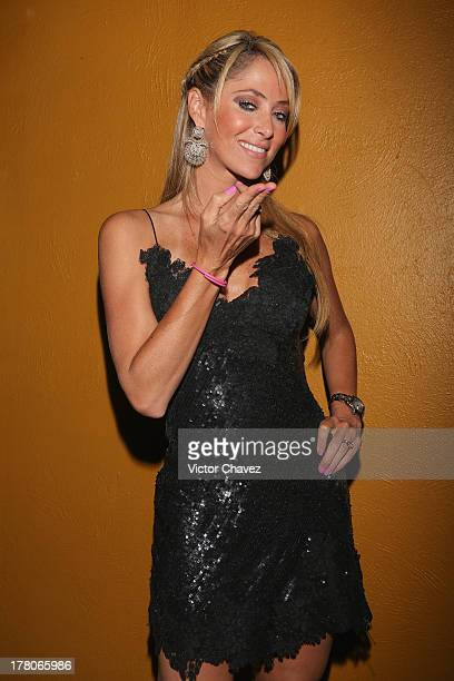 Ines Sainz attends the Liverpool Fashion Fest Autumn/Winter 2013 at Club de Banqueros on August 22 2013 in Mexico City Mexico