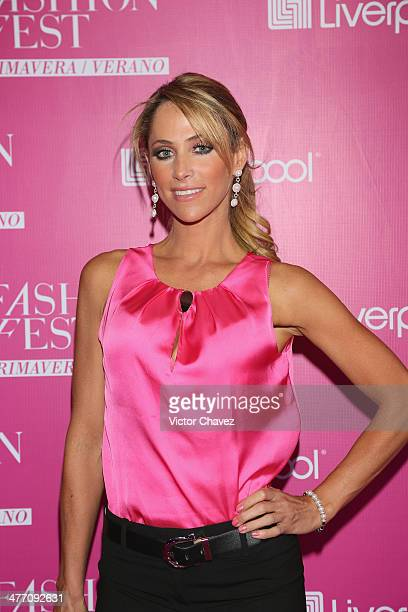 Ines Sainz attends the Liverpool Fashion Fest Spring/Summer 2014 at Hipodromo de las Americas on March 6 2014 in Mexico City Mexico