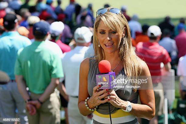 Ines Sainz during the Par 3 Contest prior to the start of the 2015 Masters Tournament at Augusta National Golf Club on April 8 2015 in Augusta Georgia