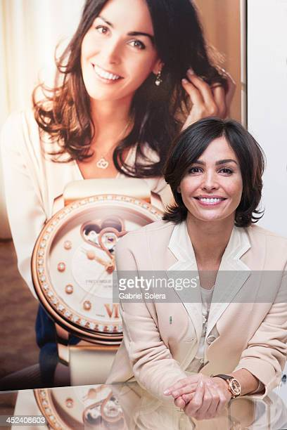 Ines Sastre Ambassador of Frederique Constant supports Spanish Heart Foundation at El Corte Ingles Store on November 28 2013 in Madrid Spain