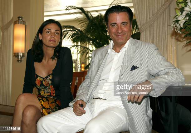 Ines Sastre and Andy Garcia during 'The Lost City' Press Conference with Andy Garcia and Ines Sastre at National Hotel in Miami Beach Florida United...