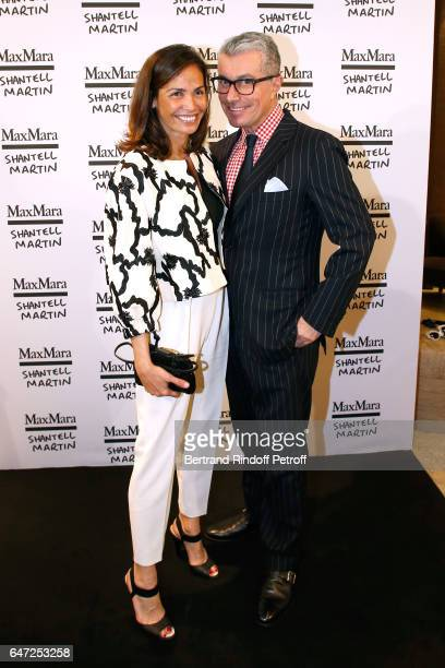 Ines Sastre and Director of Communication of Max Mara Giorgio Guidotti attend the Max Mara 'Prism in Motion' Eventas with the presentation of the new...