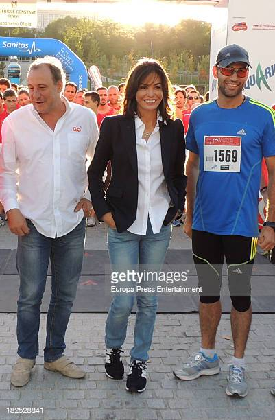 Ines Sastre and Fermin Cacho attends run '2013 Hearst' on September 28 2013 in Madrid Spain