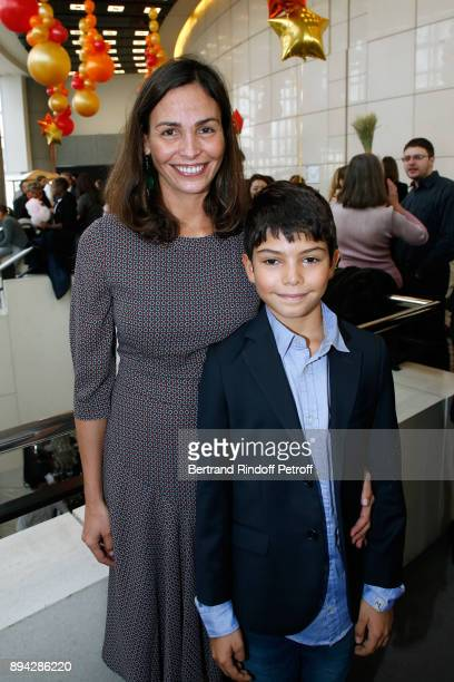 Ines Sastre and her son Diego attend the 32th Reve d'Enfants Charity Gala at Opera Bastille on December 17 2017 in Paris France