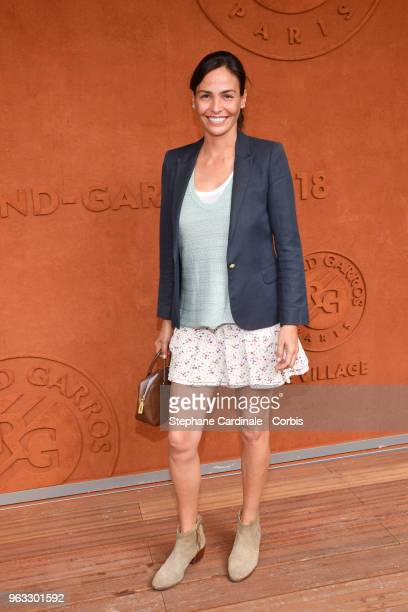 Ines Sastre attends the 2018 French Open Day Two at Roland Garros on May 28 2018 in Paris France