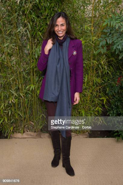 Ines Sastre attends the Bonpoint Winter 2018 show as part of Paris Fashion Week January 24 2018 in Paris France