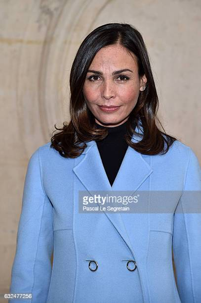 Ines Sastre attends the Christian Dior Haute Couture Spring Summer 2017 show as part of Paris Fashion Week on January 23 2017 in Paris France