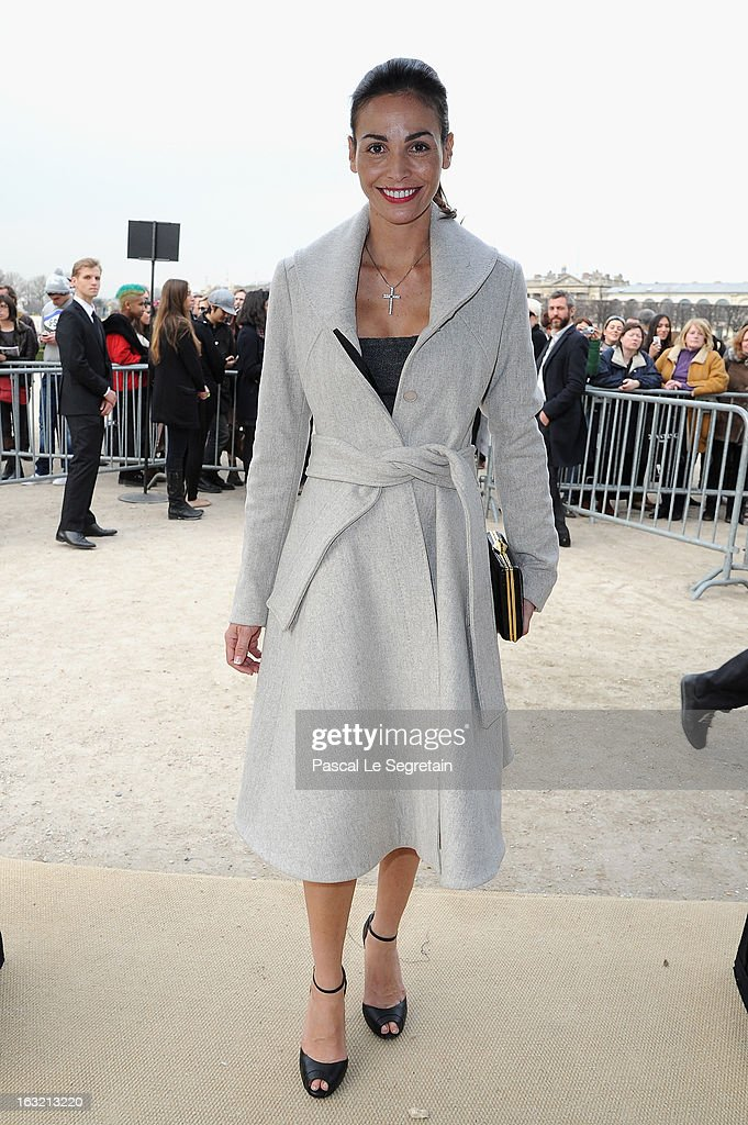 Ines Sastre attends the Elie Saab Fall/Winter 2013 Ready-to-Wear show as part of Paris Fashion Week on March 6, 2013 in Paris, France.